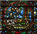 SE6052 : Detail of 12th century stained glass, York Minster by Julian P Guffogg
