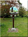 TM3891 : Geldeston Village sign by Adrian Cable