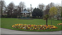 NZ3956 : Flower bed in Mowbray Park, Sunderland by Malc McDonald