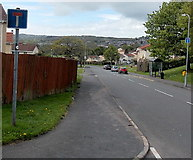 ST3091 : No through road signs, Russell Drive, Newport by Jaggery