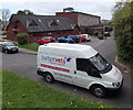 ST3091 : Budget Vets van and premises, Malpas, Newport by Jaggery