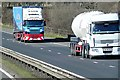 NS7844 : Heavy Goods Traffic on the M74 by David Dixon