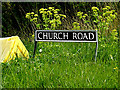 TM3993 : Church Road sign by Geographer