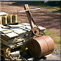 J4967 : Old lawn roller, Castle Espie by Rossographer