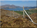 NG8016 : Deer fence above Eilanreach by John Allan