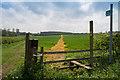 SK8731 : Public Footpath near Hilltop Farm by J.Hannan-Briggs