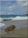 SW3526 : The northern end of the beach at Sennen Cove by Rod Allday
