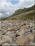 SW3526 : Rocks on the beach below Carn Barges by Rod Allday