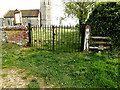 TM4295 : Entrance Gates of St. Margaret's Church by Adrian Cable