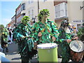 TQ8209 : Jack in the Green Festival - Drummers by N Chadwick