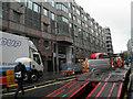 TQ3281 : Moorgate madness (traffic that is) by Steve  Fareham