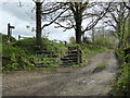 SX1183 : Public footpath from Tregoodwell to Moorgate by Rod Allday