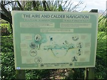 SE3629 : Information Board, Aire & Calder Navigation (2) by Mike Kirby