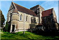 ST8449 : SW side of Holy Trinity Church, Dilton Marsh by Jaggery