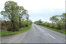 NX1255 : Road to Sandhead near West Freugh by Billy McCrorie