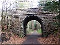 NO5298 : Road bridge to Aboyne cemetery (west face) by Stanley Howe