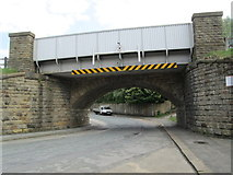 SE0641 : Bridge - Keighley & Worth Valley Line - Low Mill Lane by Betty Longbottom