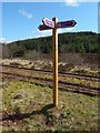 NS3482 : Signpost on the John Muir Way by Lairich Rig