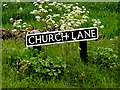 TM4493 : Church Lane sign by Geographer