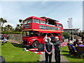 TV6198 : Old Routemaster Bus on Western Lawns Eastbourne by PAUL FARMER