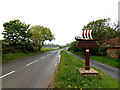 TM4593 : Rectory Road & Aldeby Village sign by Adrian Cable