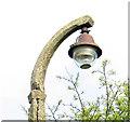 TG1338 : RAF West Beckham radar station (A Site) - old lamp by Evelyn Simak