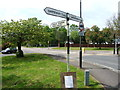 TR1259 : Old fingerpost at Rough Common by Chris Whippet