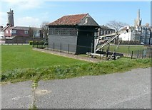 TM2632 : The Treadwheel Crane, Harwich Green by John Baker