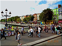 O1534 : Dublin-O'Connell Bridge & Bachelors Wk by Suzanne Mischyshyn