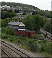 ST0790 : Disused Pontypridd Junction signalbox by Jaggery