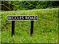 TM4493 : Beccles Road sign by Adrian Cable