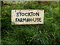 TM4893 : Stockton Farmhouse sign by Adrian Cable