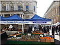 TM1644 : Marquee at Ipswich market looking onto Princes Street by Hamish Griffin