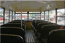 TQ3772 : View from vintage bus at Catford bus garage by David Kemp