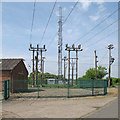 TL7844 : Belchamp Grid Substation and radio mast by Roger Jones