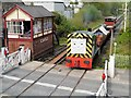 SD7916 : Mavis and the Troublesome Trucks at Ramsbottom Crossing by David Dixon