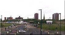 SJ8298 : East Ordsall Lane from the railway by John Firth