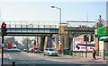 TQ3576 : Queen's Road, Peckham and entrance to station by Ben Brooksbank