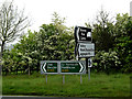 TM4292 : Roadsigns on the A143 Yarmouth Road by Adrian Cable