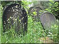 SK3485 : Headstones in Sheffield General Cemetery by Graham Robson