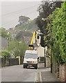 SX9064 : Lamppost work, Teignmouth Road, Torquay by Derek Harper