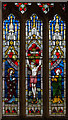 TF0881 : Stained glass window, Ss Peter & Lawrence church, Wickenby by J.Hannan-Briggs