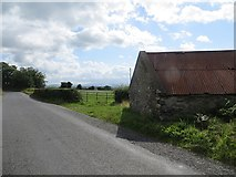 H2095 : Road and byre near Killygordon by Richard Webb