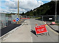 SO1708 : B4485 Steel Works Road closed, Ebbw Vale by Jaggery