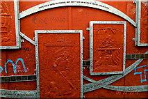 "J3274 : Belfast - ""Peace Line"" along Cupar Way - Dalai Lama Message by Suzanne Mischyshyn"
