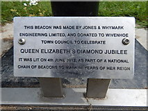 TM0321 : Sign for Wivenhoe Beacon by Hamish Griffin