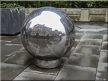 TQ3280 : Decorative Globe, Sermon Lane, London EC2 by Christine Matthews