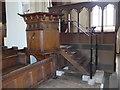 SU5794 : Dorchester Abbey: pulpit by Basher Eyre