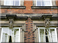 SK4635 : Grotesque heads, Latin House, Risley (2) by Alan Murray-Rust