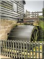 SJ4553 : Timber Overshot Water Wheel, Stretton Mill by David Dixon